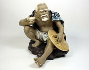 Very Fine Hand Made Masterpiece Chinese Shiwan Pottery Figurine Unmarked