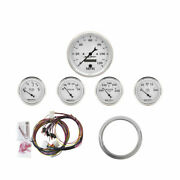 Autometer Gauge Direct-fit Dash Kit For Chevy Car 1959 1960 Old Tyme White 5-pc