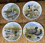Southern Living Gallery Game Birds Of The South American Vntg Plates 706 Set