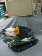 Antique Masudaya Missile Tank Ms-33 Battery Operated Tin Toy Ref4033-working