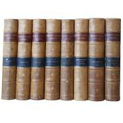 Set Of 8 Antique Victorian Leather Bound Books The Works Of George Eliot 1886
