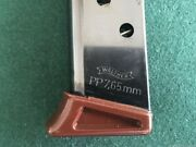 Factory Walther Pp - 7.65mm Magazine - 7 Round With Brown Finger Extension