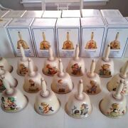 Goebel Hummel Full Bas Relief Bell German Collection 15 Pcs And Boxes 1978-1992