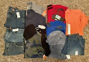 12 Piece Lot Nwt Youth Boys Size 10 Jeans, Jacket, Dress Shirts, Shorts And More