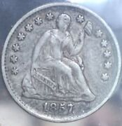 1853 Philadelphia Mint Silver Seated Liberty Half Dime With Arrows 987