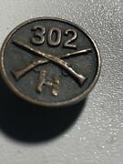 94th Division 302 Infantry Regiment Co H Infantry Collar Disk Insignia