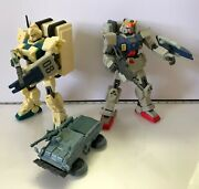 Bandai Gundam 2001 08th Ms Team Rx-79g And Rx-79 Ez8 Deluxe Action Figures Used