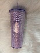 New Arrival Starbucks Lilac Glitter Studded Cup Tumbler