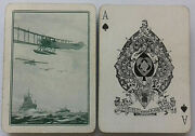 Antique Playing Cards Goodall Wide Biplane Warships 1st World War Ww1 1915