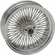 Drag Specialties 0203-0609 Laced 50 Spoke Front Wheel - 16x3.50 Chrome