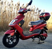 500 Watt Wizzer Electric Motor Scooter Moped With Pedals - Yw 182