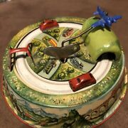 Antique German Wind Up Cars And Airplane Tin Toy