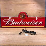 💎 Budweiser Lighted Electric Sign Great Condition For Bar Man Cave King Of Beer
