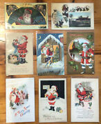 Lot Of 30 Antique Santa Claus Holiday Christmas Postcards 1334