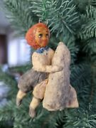 Cotton Girl With Space Rocket Spacecraft Christmases Ornament Decor Cottonbud