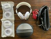 Custom White Leather Beats Pro By Dr. Dre W/ Extras