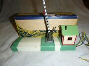 American Flyer 600 Crossing Gate With Bell And Original Box - Very Good