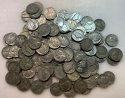 Lot Of 130 Silver Bullion War Jefferson Nickels 35 Pure Coins Free Shipping