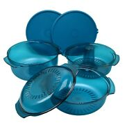 Tupperware Stack Cooker Complete Set For Microwave Cooking Teal