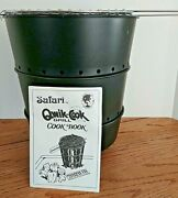 Safari Qwik-cook Portable Camping Grill Uses Newspaper For Tailgate Parties New