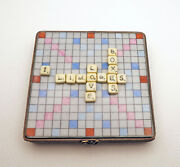 New French Limoges Trinket Box Scrabble Game Puzzle I Love Limoges Boxes