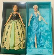 Limited Edition Frozen On Broadway Anna And Elsa Dolls In Mint Condition