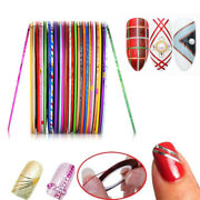 2pc 30colors 1mm Nail Gold And Silver Thread Colors Rolls Striping Tape Line Diy