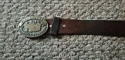 1980s Music City Usa Nashville Country Music Solid Bronze Buckle And Belt