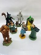 Wizard Of Oz Music Box Collection 7 Pc Dave Grossman 1997 Emerald City, Dorothy