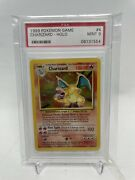Pokemon Card Game Charizard Holographic 4/102 Psa 9 Mint Base Unlimited 1999