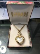 Vintage Gitano Collection Gold Pocket Watch With Box