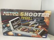 Tomy Astro Shooter Tabletop Electric Pinball Game Works Tested, Box Vintage 1987