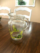 Vintage Blakely Gas And Oil Clear Glass Pitcher Blakely Cactus Glass Pitcher Clear