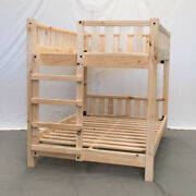 Unfinished Farmhouse Bunk Bed - Twin/twin / Wood Reclaimed Bunk Bed / Modern /