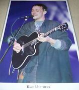 Dave Matthews Signed Poster Band Autograph Exact Proof Dmb Early Jsa Auth Coa