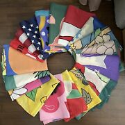 Lot Of 16 Outdoor Lawn Garden Flag Christmas 4th Of July Easter ++++