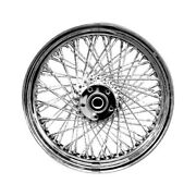 Drag Specialties 0203-0040 Laced 80 Spoke Front Wheel - 21x2.15 Chrome