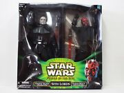 Star Wars Power Of The Jedi Sith Lords Action Figures Darth Vader Darrh Maul New