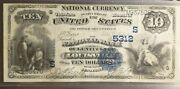 Louisville Ky 10 1882 Vb National Bank Note Ch 5312 Nb Kentucky Vf+ Almost Xf