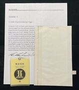 Project Gemini 5 / Gt-5 Flown Mission Single Checklist Page Sccs Coa Loa And Badge