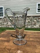 Cut Glass Footed Pitcher/creamer/syrup