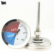 300℃ Steel Bbq Barbecue Charcoal Smoker Gas Grills Thermometer Temp Gauge Hot