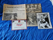 Hank Aaron 15 Piece Vintage Items Lot Magazines Newspapers Lp Records Ect.