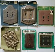 Lot Of 6 Vintage Assorted Wall Decor Light Switch Cover Plates All New Sealed