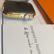 Series 7 Hermes Apple Watch 18k Gold Plated 45mm Custom Rare Body Only
