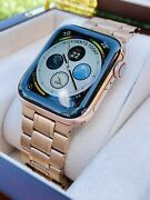 Series 7 Hermes Apple Watch 18k Gold Plated 41mm Custom Rare Body Only