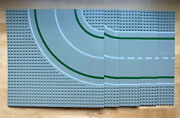 Lego Base Plates Gray Road 32 X 32 Straight Curve- Lot Of 5