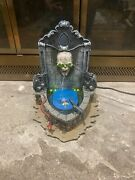 Rare 2002 Lemax Spooky Town Collection Haunted Fountain Skull Head Works