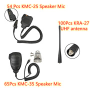 Kmc-35 And Kmc-25 Speaker Mic With 6.0 In Kra-27 Uhf Antenna For Kenwood Radio