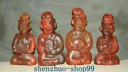 23 China Hongshan Culture Red Crystal Ancients Coin People Person Statue Set